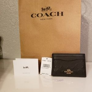 Black coach cardholder